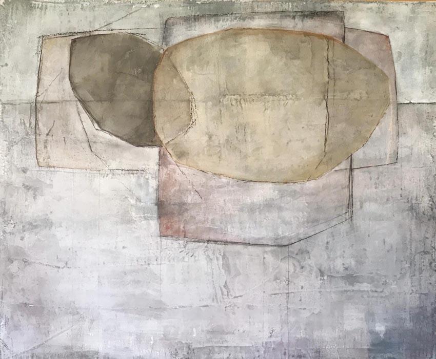 Tecnica mista - Acrilico, intonaco e cera su tela (2019)