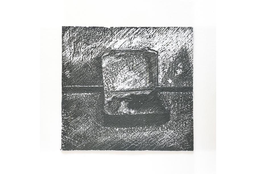 2 - Acrilico, Cera e Intonaco su Carta (2014)