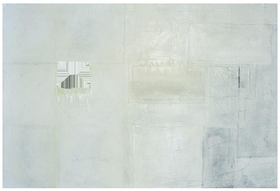 4 - Acrilico, Cera e Tela su Intonaco (2014)