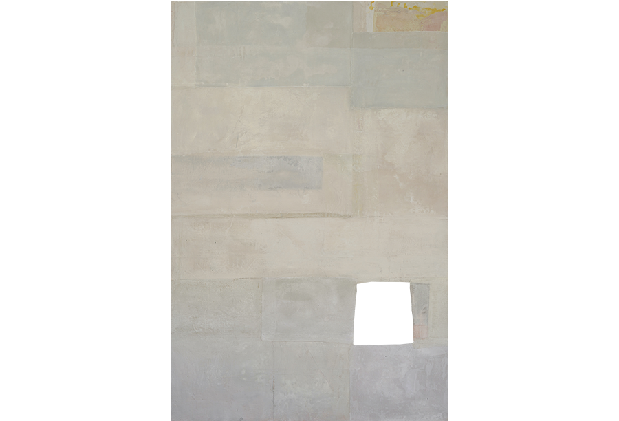 2 - Acrilico, Cera e Tela su Intonaco (2014)