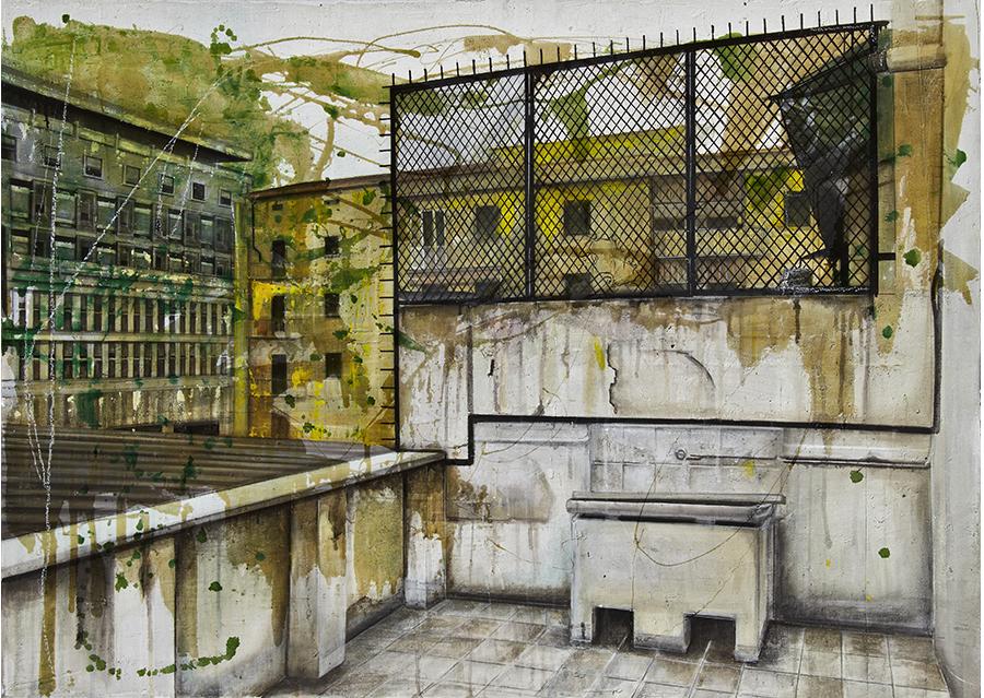 2- Tecnica mista - Acrilico su Intonaco (2011)