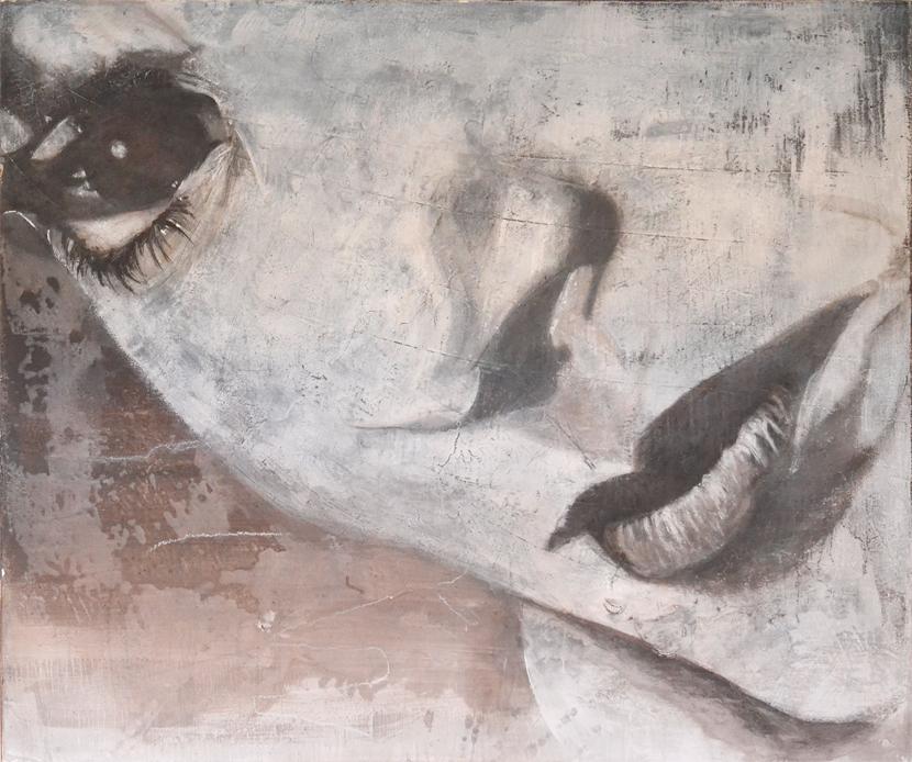 4 - Tecnica mista - Acrilico, intonaco e cera su tela (2014)