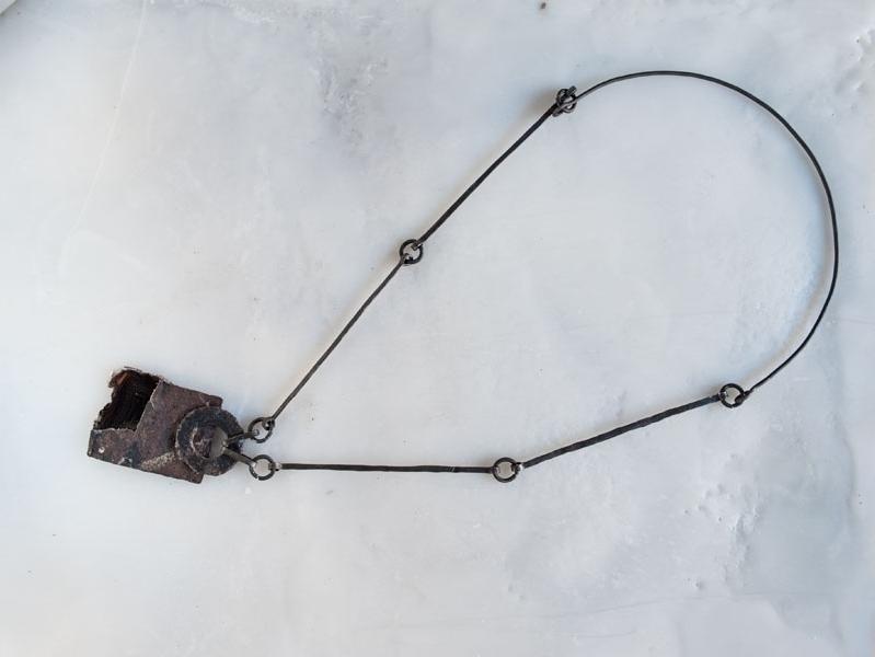Ferro cotto, agata naturale, object trouvè